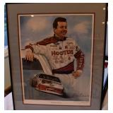 Pencil singed and numbered NASCAR print