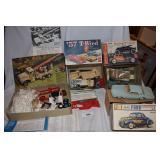 Four vintage model cars
