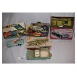Four vintage toy car kits
