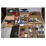 Large assortment of model car parts, and paints +