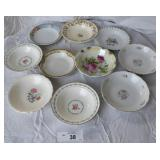 10 pcs. Vintage China  Berry Bowls
