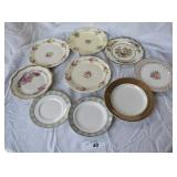 9 pcs. Misc Vintage China Plates