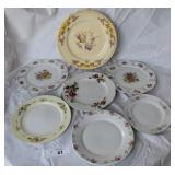 7 pcs. Misc Vintage China Plates