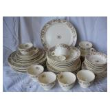 49 pcs. Vintage Taylor Smith China Setting for 7