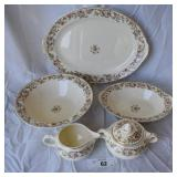 6 pcs. Vintage Taylor Smith Serving China