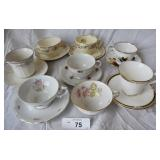 7 pcs. Vintage Tea Cup Sets