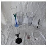 11 pcs. Misc Fluted Champagne Glasses
