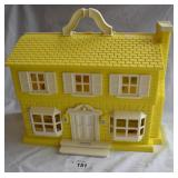 Yellow Durham Industries Carry Case Dollhouse