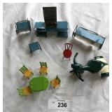Vintage dollhouse funature set