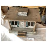 Antique wooden dollhouse