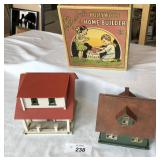 Two vintage dollhouses