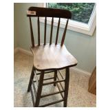 Antique bar height chair
