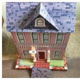 Vintage fiber board doll house