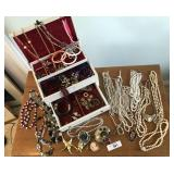 46 + variety of vintage costume jewelry.
