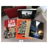 Six misc. coffee table books
