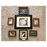 Seven  pc. of framed artwork