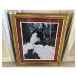 One gallery framed and matted print