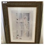 One large gallery framed and matted print