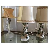 Three vintage lamps