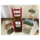 Three vintage doll decore chairs