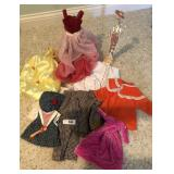 13+ pieces of vintage doll clothing