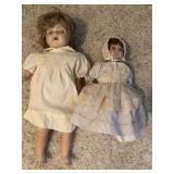 Two vintage composition dolls