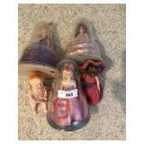 Five vintage dolls
