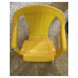 Vintage plastic childs chair