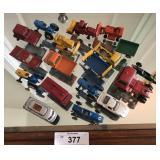 Vintage toy cars.