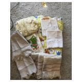 Vintage towels bedding, misc vintage linens.