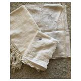 Three pc. Of misc. vintage table linens