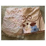 Two vintage blankets