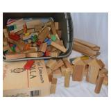 large selection of wooden blocks