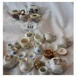 Vintage assortment of childs tea china