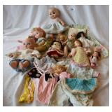Assortment of 12 vintage dolls