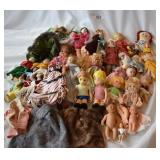 Assortment of vintage dolls