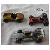 Three vintage hot wheels red line 1970