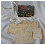 Vintage beaker, antique perscriptions, vintage pos