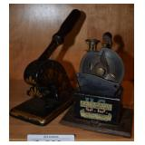 Antique automatic pencil sharpener, embosser