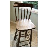 Antique Bar-Height Chair