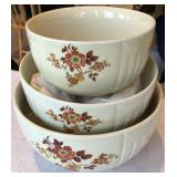 3 pcs. Vintage Mixing Bowl Set