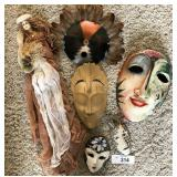 6 pcs. Vintage Hand-crafted Masks