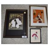 3 pcs. Vintage Framed Art