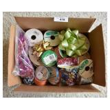 Box Lot of Gift Wrapping Bows & Ribbons