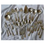 26 pcs. Mixed Silver Plate Flatware