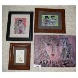 4 pcs. Art - Painting & Framed