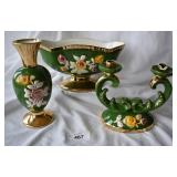 3 pcs. S.A . Leart Co. Porcelain Decor