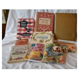 9 pcs. Vintage Cookbooks