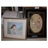 2 pcs. Michele Bennethum Signed Framed Art