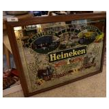Large Heineken Bar-Top Mirror